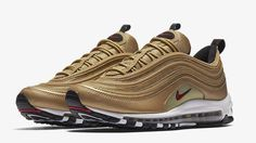 the best attitude 6222f 4654a Nike Air Max 97 QS Metallic Gold Varsity Red 884421-700 Men s Size 12 New