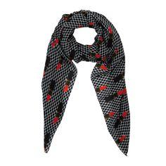 Very Red // silk/cotton scarf // Art Collection Katja Filipovich for hüftgold berlin // Spring 2015