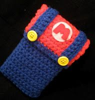 Mario bros crochet Nintendo ds case.