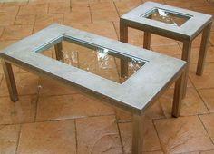 Стол с бетонной столешницей (трафик, Diy) / Дача / ВТОРАЯ УЛИЦА