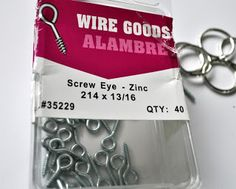 Screw Eyes for DIY wine cork keychains