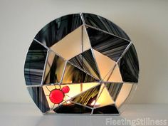 Halloween Stained Glass Candle Holder by FleetingStillness on Etsy,