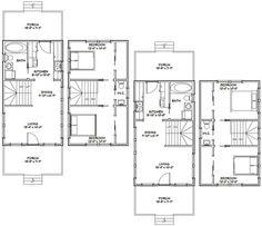 16x28 Tiny Houses 2 Bedroom 1.5 Bath PDF by ExcellentFloorPlans
