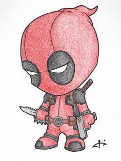 Little Deadpool von auf DeviantArt – Manga zeichnen - Cartoon Cute Disney Drawings, Cool Art Drawings, Pencil Art Drawings, Art Drawings Sketches, Easy Drawings, Drawing Ideas, Drawing Tips, Cool Cartoon Drawings, Hipster Drawings