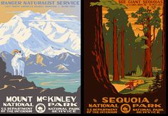 wpa posters   Tags: Federal Art Project , park posters , Ranger Doug , WPA