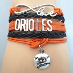Infinity Love Baltimore Orioles Baseball - Show off your teams colors! Cutest Love Baltimore Orioles Bracelet on the Planet! Don't miss our Special Sales Event. Many teams available. www.DilyDalee.co