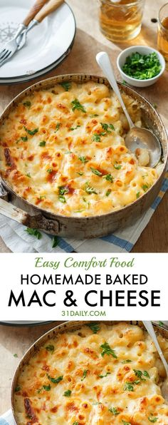 Easy Homemade Baked Mac and Cheese | 31Daily.com http://healthyquickly.com