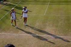 Martina Hingis and Sania Mirza in the ladies' doubles quarter-finals. Jed Leicester/AELTC Wimbledon 2015