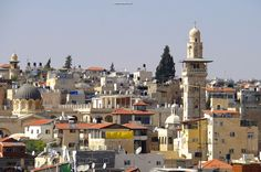 Skyline of the old city of Jerusalem Israel https://ExploreTraveler.com/