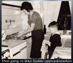 En plikt på 70 og 80-tallet. Alle fikk ta sin del av oppvasken.
