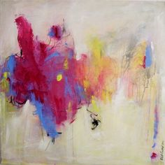 ARTFINDER: Purple Haze by Kat Crosby - Large colorful and bold abstract expressionism done with acrylic and charcoal pencil on a gallery profile canvas. It is signed on the front with the title an...
