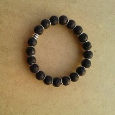Men's Bracelet, Black Beads Bracelet, men's jewelry, Couple Gift, metal element bracelet, gift for him, Cuff Bracelets, elastic bracelet, Lava Bracelet, Beaded Cuff Bracelet, Bracelet Sizes, Bracelets For Men, Fashion Bracelets, Cuff Bracelets, Couple Gifts, Men's Jewelry, Gifts For Him