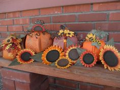 Some of my pumpkins and sunflowers I made using pick a pumpkin from svg cuts and the 3d flowers from 3D mums and fall flowers