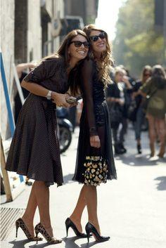 Stylish & Happy Anna dello russo & Viviana Volpicella Street Style Fashion