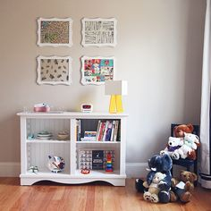 Nursery With White Bookshelf, Wall Art and Stuffed Animals This+nursery+has+midc. Nursery With White Bookshelf, Wall Art and Stuffed Animals This+nursery+has+midcentury+modern+eleme White Bookshelves, Bookcase, Bookshelf Wall, Preppy Baby Boy, Homemade Stuffed Animals, Playroom Decor, Animal Nursery, Framed Artwork, Wall Art