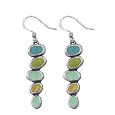Tango / capri Studio Line Pewter Wire Earrings - Handcrafted in Vermont - Danforth Pewter
