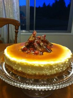 Whiskey Maple Bacon Cheesecake--OK, this was amazing! I added chopped pecans to the crust and to the bacon brittle for the top because, well, why not?!