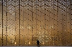 The Midas Touch: 10 Golden Façade Designs - Architizer Ali Mohammed T. Al-Ghanim Clinic by AGi architects, Kuwait