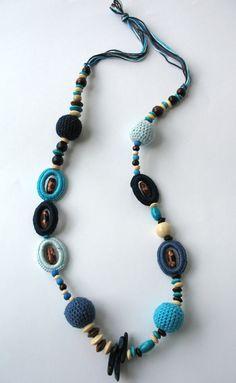 Summer Fiesta Crocheted Necklace by DreamList on Etsy