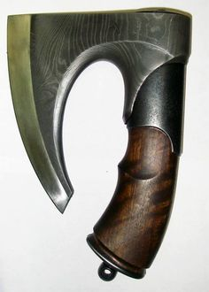 Hand Axe - modern version of stone age Flint or Obsidian hand axe Cool Knives, Knives And Tools, Knives And Swords, Vikings, Hand Axe, Beil, Fantasy Weapons, Cold Steel, Custom Knives