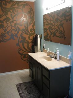 Painting wall murals
