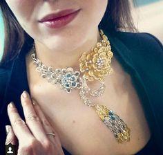 Slice diamond Necklace by L' Dezen via Katya Perez on Instagram