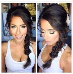Fishtail braid, wedding makeup, smokey eyes, bridal makeup, wedding hair