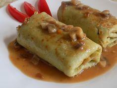 magiczna kuchnia Kasi: Naleśniki z kaszą gryczaną i pieczarkami