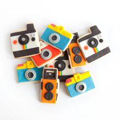 camera cookie gift box (9 cookies). $35.00, via Etsy.