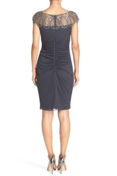 Alternate Image 2  - Xscape Embellished Chiffon Sheath Dress (Regular & Petite)