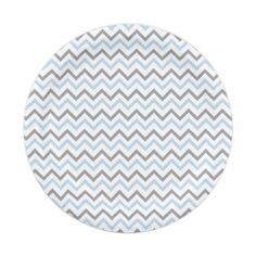 Modern Blue u0026 Grey Chevron Paper Plates 7 Inch Paper Plate  sc 1 st  Pinterest & Pink Chevron Baby Shower Paper Plate | Chevron paper and Chevron ...
