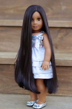 American Girl Doll Custom MyAG 46 with Kaya wig Sonali + outfit OOAK #DollswithClothingAccessories