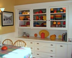 love the cabinets for fiestaware