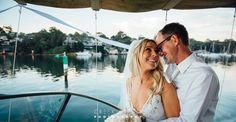 Clarkes Point Reserve wedding #weddingboat #sydneywedding #smiles