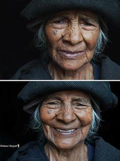"""El fotógrafo turco Mehmet Genç conocido en las redes sociales como Rotasiz Seyyah que traducido significa """"Nómada sin rumbo"""" ha llevado a cabo un proyecto fotográfico enfocado en mujeres de distintas partes del mundo.  """"You are beatiful"""" recoge la reacción de mujeres de todas las culturas y edades al escuchar que son bellas. Todas sin excepción reciben el piropo con una sonrisa y las más jóvenes con un poquito de rubor. Me encantaría ver la misma reacción en hombres ojalá amplíe el proyecto…"""