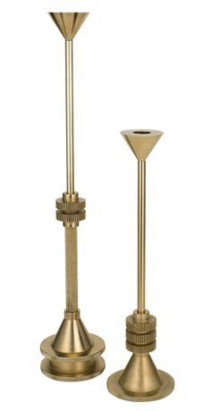 Cog Candleholders (2014) by Tom Dixon