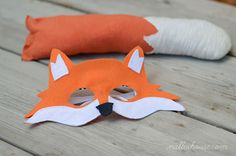 Nalle's House: DIY FOX COSTUME  Includes template for mask and the brilliant idea to put the mask on old sunglasses!