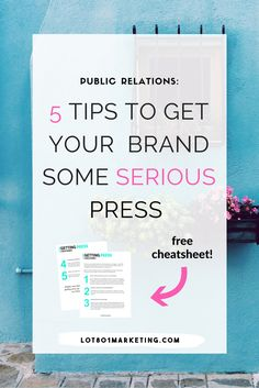 Click here for tips on how to do your own PR and get some serious press. This post is for bloggers, small business owners, creative entrepreneurs. This blog has TONS of biz tips, blogger tips, business tips and more! Business Marketing, Business Branding, Content Marketing, Marketing Techniques, Pinterest For Business, Blogger Tips, Influencer Marketing, Business Advice, Competitive Intelligence