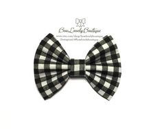 Baby/Girl/ handmade black and white checkered by BowLovelyBoutique