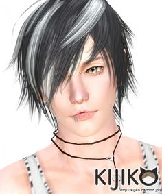 White Toyger Kitten hair for males by kijiko - Sims 3 Downloads CC Caboodle