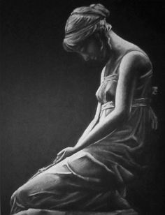 Drawing of a statue - classical art