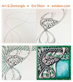 Learn how to create beautiful colorful Zentangle • enioken.com