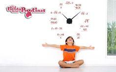 https://flic.kr/p/w3zb8q | vinilos-decorativos-de-pared-reloj-rj-m0021-matematicas-operaciones-183201 | Un genial reloj matemático. Prueba a resolver las operaciones y te sorprenderás