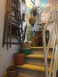 Showroom, Ladder Decor, Home Decor, Homemade Home Decor, Interior Design, Home Interiors, Decoration Home, Fashion Showroom, Home Decoration