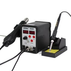 76.95$  Buy here - http://aliay5.worldwells.pw/go.php?t=32680434006 - YIHUA 898D 220V 700w Heat Gun Digital Soldering Iron Station 2 Function in 1 Rework Station with Solder Iron 76.95$