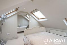 The bedroom opens out on an en-suite.