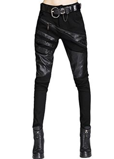Minibee Women's Harem Patchwork Leather Pocket Punk Style Personalized Pants Black 2 S Minibee http://www.amazon.com/dp/B019I1UE34/ref=cm_sw_r_pi_dp_d6Pexb1D28T50