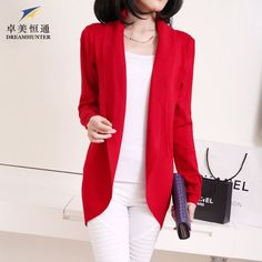 Plus Size Spring Autumn 2016 Women Long Wool Knitted Cardigan Sweater Scarf Collar Long Sleeve Solid Casual Ladies Knitwear Coat