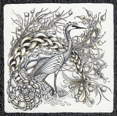 Crane - I love this. Even the crane is made up of patterns: b'tweed, dragonair, paradox...very cool