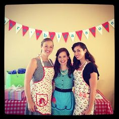 1950's bridal shower: love that everyone came in aprons and pearls and all of the other little details!